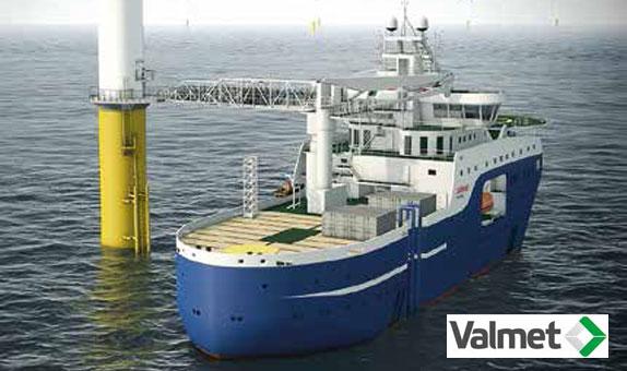Valmet DNA'lı Rüzgar Santrali Servis Operasyon Gemisi class=