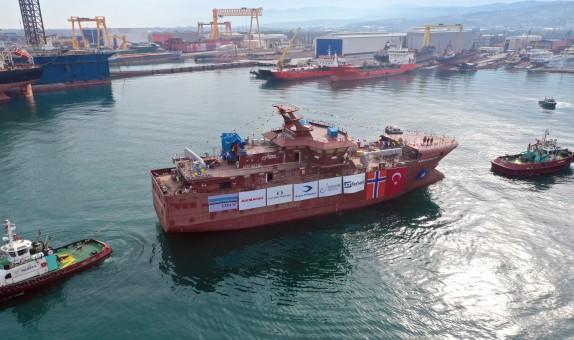 Tersan Tersanesi 100. Projesi Olan, Longliner Tipi Fabrika Balıkçı Gemisini Suya İndirdi